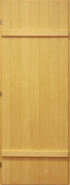 Дверь для бани деревянная 70х190 липа массив глухая, арт. д-112 лев