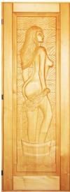 Дверь для сауны 70х190 липа резная