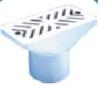 Форсунка переливного желоба пласт 9м3/ч, Д.50, плитка арт PADF2820