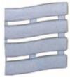 Коврик SOFT STEP №18 шириной 60см синий с точками