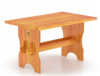 Стол 1.1м х 0.7м, высота 0.75м (лиственница натуральная со специальным покрытием)