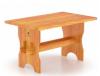 Стол 1.3м х 0.8м, высота 0.75м (лиственница натуральная со специальным покрытием)