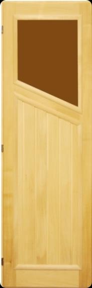 Дверь 70х190 липа со стеклом косым левая, арт. ДС-1-Л