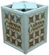Абажур подвесной малый С ЛЕГКИМ ПАРОМ с 9-ю звездами (липа), арт. А-29