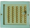Вентиляционная задвижка с дырочками большая (липа), арт. РВ-3Б