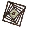 Часы квадратные для предбанника (липа), арт. ЧР-КР