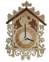 Часы резные для предбанника (липа), арт. ЧР-1