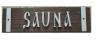 Табличка SAUNA (липа), арт. Б-02