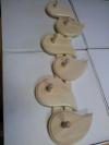 Вешалка с 6-ю крючками ОГОНЕК (липа), арт. ММ215