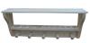 Вешалка с 5-ю крючками, полкой и 10-ю отверстиями под масла стеновая (липа), арт. УНБ-54