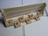Вешалка с 7-ю крючками и полкой стеновая (липа), арт. ПК-7