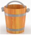 Ведро 15л (лиственница натуральная со специальным покрытием)