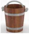 Ведро 15л (лиственница мореная со специальным покрытием)