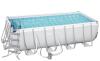 Бассейн каркасный BESTWAY 488х244х122 (с картриджным фильтром, лестницей, тентом), арт. 56670