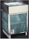 Электрическая печь KARINA QUADRO  в облицовке талькохлорит 9 кВт (мал), 220/380В