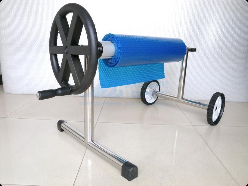 Опора роллера POOLKING колёсная 1шт и переносная 1шт (нерж) с трубой 4.9-6.45м для бассейна не шире 5.5м (алюминий)