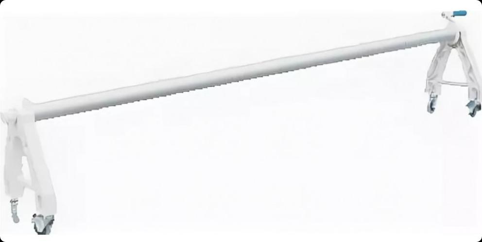 Опора роллера PERAQUA колесная (пласт)  с трубой 2.5-5.0м (алюминий), арт. 170488+170138+190085