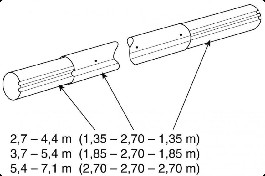 Труба VAGNER POOL 5.4-7.1м (алюминий) для опоры VAGNER POOL, арт. 6011971